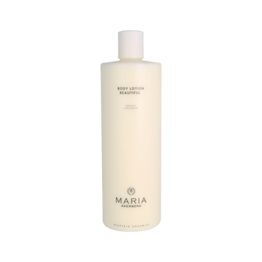 BODY LOTION BEAUTIFUL  |  Voedende lotion voor de droge en rijpere huid met pigmentvlekken, zorgt voor een goede vocht- en vetbalans, met etherische oliën van Citroen, Sinaasappel en Kardemom