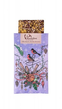 CHRISTMAS CHOCOLATE VEGAN LIMITED EDITION | 70% PUUR CHOCOLADE MET SINAASAPPEL, GEMBER EN KOKOS | MADE IN SWEDEN