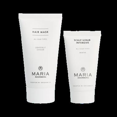 HAIR REPAIR | Scalp Scrub Intensive 30 ml, deze verwijdert droge en vette restanden op de hoofdhuid en Hair Mask 50 ml om je haar geeft je haar een hydraterende oppepper
