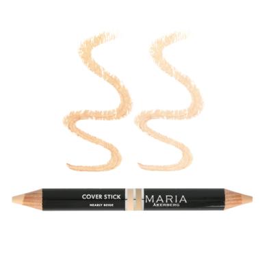 COVER STICK | CONCEALER Nearly Beige, een dubbele correctie pen, 100 % plantaardig, 'TOVERSTICK'