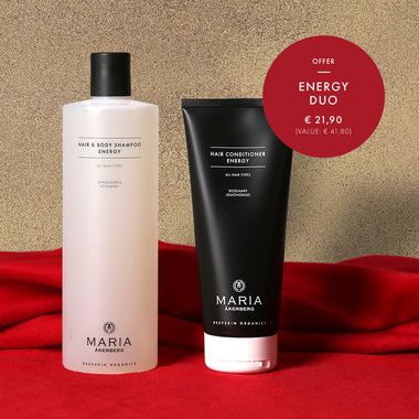 ENERGY DUO | MARIA ÅKERBERG | Hair & Body Shampoo Energy 500 ml & Hair Conditioner Energy 200 ml AANBIEDING!