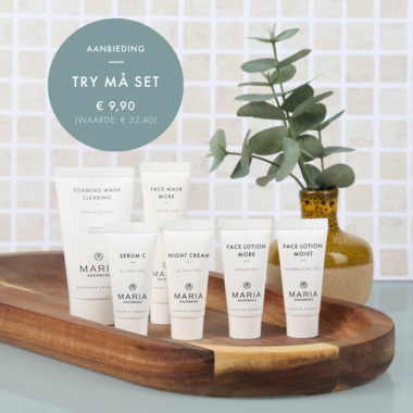 Try MÅ Set | 6 MINI verpakkingen voor het gezicht